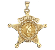 Personalized 5 Point Star Alabama Sheriff Badge with Rank  Number   Dept