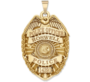 Personalized New Mexico Police Badge with Your Rank  Number   Department