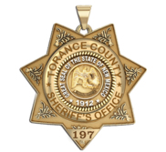 Personalized 7 Point Star New Mexico Sheriff Badge with your Dept  Rank and Number