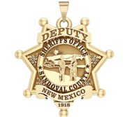 Personalized Sandoval County New Mexico Sheriff Badge with your Rank and Number