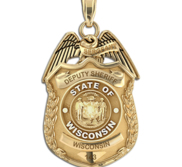 Personalized Wisconsin Police Badge with Your Rank  Number   Department