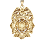 Personalized Wisconsin State Trooper Police Badge with Your Number