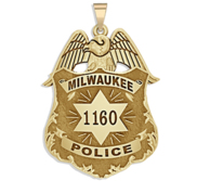 Personalized Milwaukee Wisconsin Police Badge with Your Number