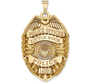 Personalized Arkansas Police Badge with Your Rank  Number   Department