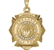 Personalized 6 Point Star Arkansas State Trooper Badge with Number