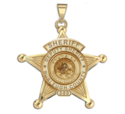 Personalized 5 Point Star North Dakota Deputy  Sheriff Badge with Rank  Number   Dept