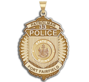 Personalized Maine Patrolman Badge with Your Department  Number   Rank