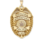 Personalized Maine Police Badge with Your Rank  Number   Department
