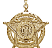 Personalized 5 Point Star Idaho Sheriff Badge with Rank   Dept