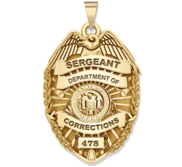 Personalized Idaho Corrections Badge with Your Rank  Number   Department