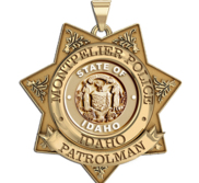 Personalized Idaho Patrolman Badge w  Rank and State