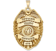 Personalized Idaho Police Badge with Your Rank  Number   Department