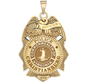 Personalized Christianburg Virginia Police Badge with Your Rank and Number