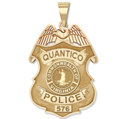 Personalized Quantico Virginia Police Badge with Your Rank and Number