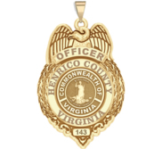 Personalized Henrico Virginia Police Badge with Your Rank and Number