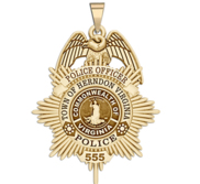 Personalized Herndon Virginia Police Badge with Your Rank and Number