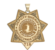 Personalized 7 Point Star Virginia Sheriff Badge with Department  Rank and Number