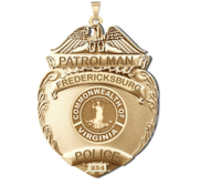 Personalized Fredericksburg Virginia Police Badge with Your Rank and Number