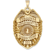 Personalized Virginia Department of Corrections Badge with Your Number