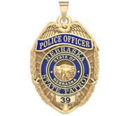 Personalized Nebraska Highway Patrol Police Badge with Your Rank and Number