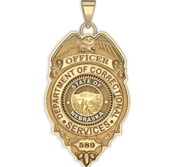 Personalized Nebraska Corrections Badge with Your Rank and Number