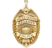 Personalized Nebraska Police Badge with Your Rank  Number   Department