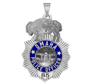 Personalized Omaha Nebraska Police Badge with Your Rank and Number