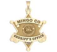 Personalized Mingo County West Virginia Sheriff Badge with Rank and Number