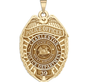 Personalized Charleston West Virginia Police Badge with Your Rank and Number