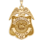 Personalized West Virginia Corrections Badge with Your Rank and Number