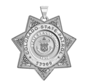 Personalized Colorado State Patrol  Badge with your Number