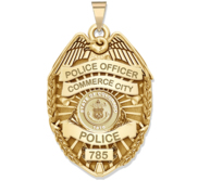 Personalized Colorado Police Badge with Your Rank  Number   Department