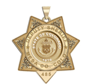 Personalized Colorado Deputy Sheriff Badge with your Number