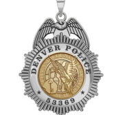 Personalized Denver Police Badge with Your Rank and Number