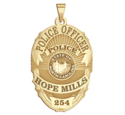 Personalized North Carolina Oval Shaped Police Badge with Your Name  Rank  Number   Department