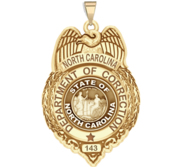 Personalized North Carolina Corrections Badge with Number
