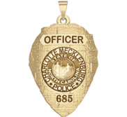 Personalized Charlotte Mecklenburg North Carolina Police Badge with Rank and Number