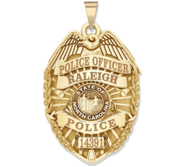 Personalized North Carolina Police Badge with Your Name  Rank  Number   Department