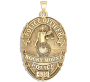 Personalized Rocky Mount North Carolina Police Badge with Rank and Number