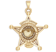 Personalized North Carolina 5 Point Star Sheriff Badge with Rank  Number   Dept