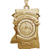 Personalized Mississippi Corrections Police Badge with Your Number   Department