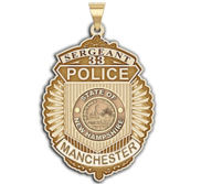 Personalized Manchester New Hampshire Police Badge with Your Rank  Number   Department