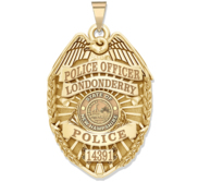 Personalized New Hampshire Police Badge with Your Rank  Number   Department