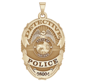Personalized Lawrence Indiana Police Badge with Your Rank and Number