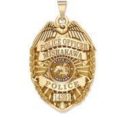 Personalized Indiana Police Badge with Your Name  Rank  Number   Department