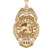 Personalized Indiana State Police Badge with Your Rank and Number