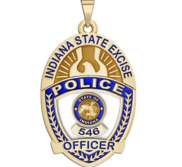 Personalized Indiana State Excise Police Badge with Your Rank and Number