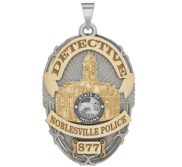 Personalized Noblesville Indiana Police Badge with Your Rank and Number