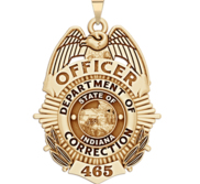 Personalized Indiana Corrections Badge with Your Rank and Number