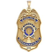 Personalized Indianapolis Indiana Police Badge with Your Rank and Number